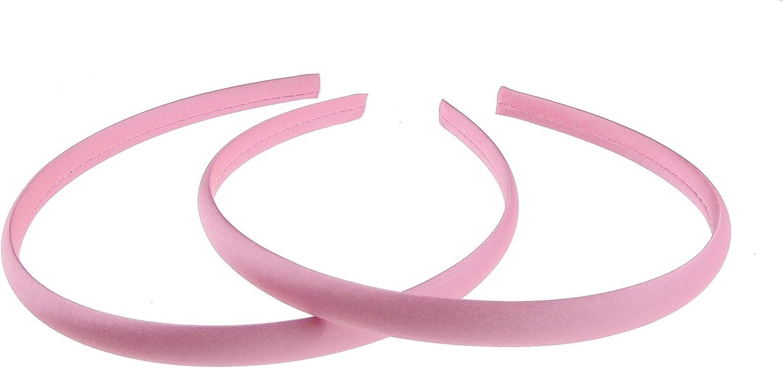 Set di 2 cerchietti per capelli stile Alice nel Paese delle Meraviglie disponibili in vari colori Glamour Girlz da donna 1/cm rivestiti in raso sottili