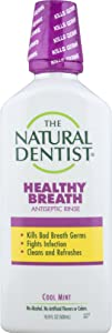 The Natural Dentist Healthy Breath Antiseptic Mouth Wash, Cool Mint, 16.9 Ounce Bottle