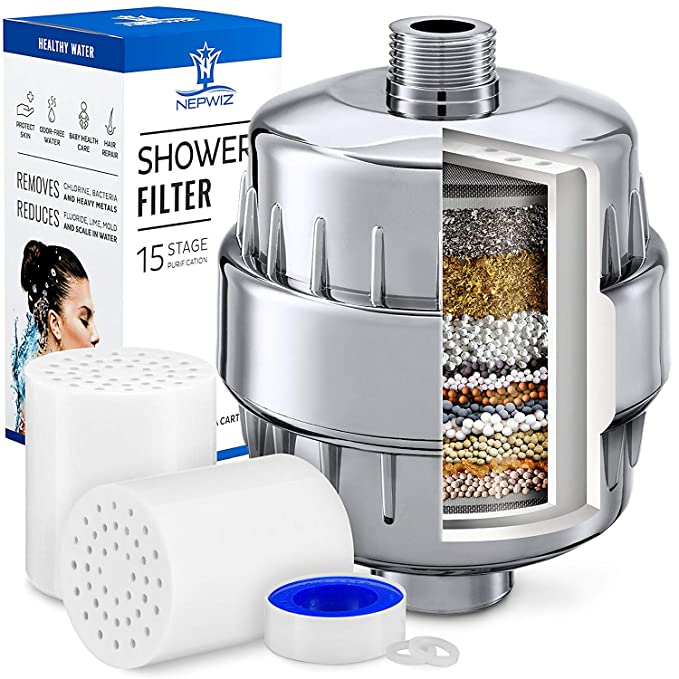 Best Shower Water Filter: Nepwiz 15 Stage Shower Filter