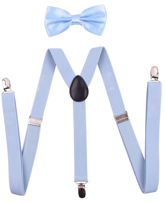 Amorismo Bretelles et Nœud Papillon Y Forme Homme A-Braces012-LightBlue120-M