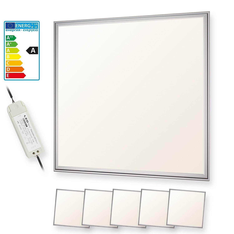 LEDVero 3er Set 60x60cm Ultraslim LED Panel 36W, 3000lm, 4500K Deckenleuchte mit Befestigungsclips und EMV2016 Trafo -Neutralweiß- Energieklasse A+ [Energieklasse A+] LDLM074