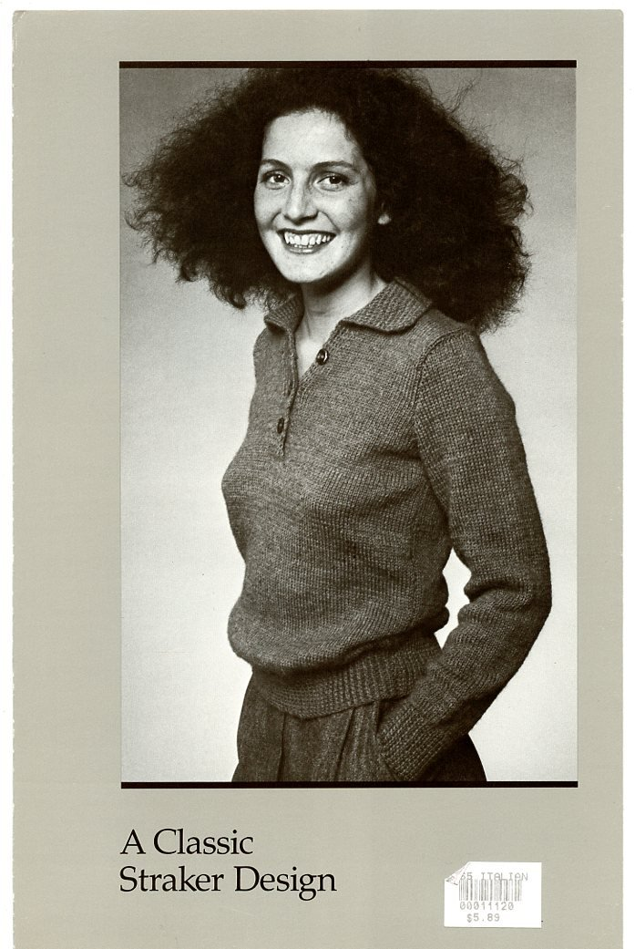 A Classic Straker Design Knitting Pattern #765 Italian Shirt - For Women to Knit in a Long or Short Sleeved Version