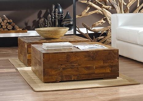 Teak legno tavolino driftwood teak schwemmholz tavolino in pezzo