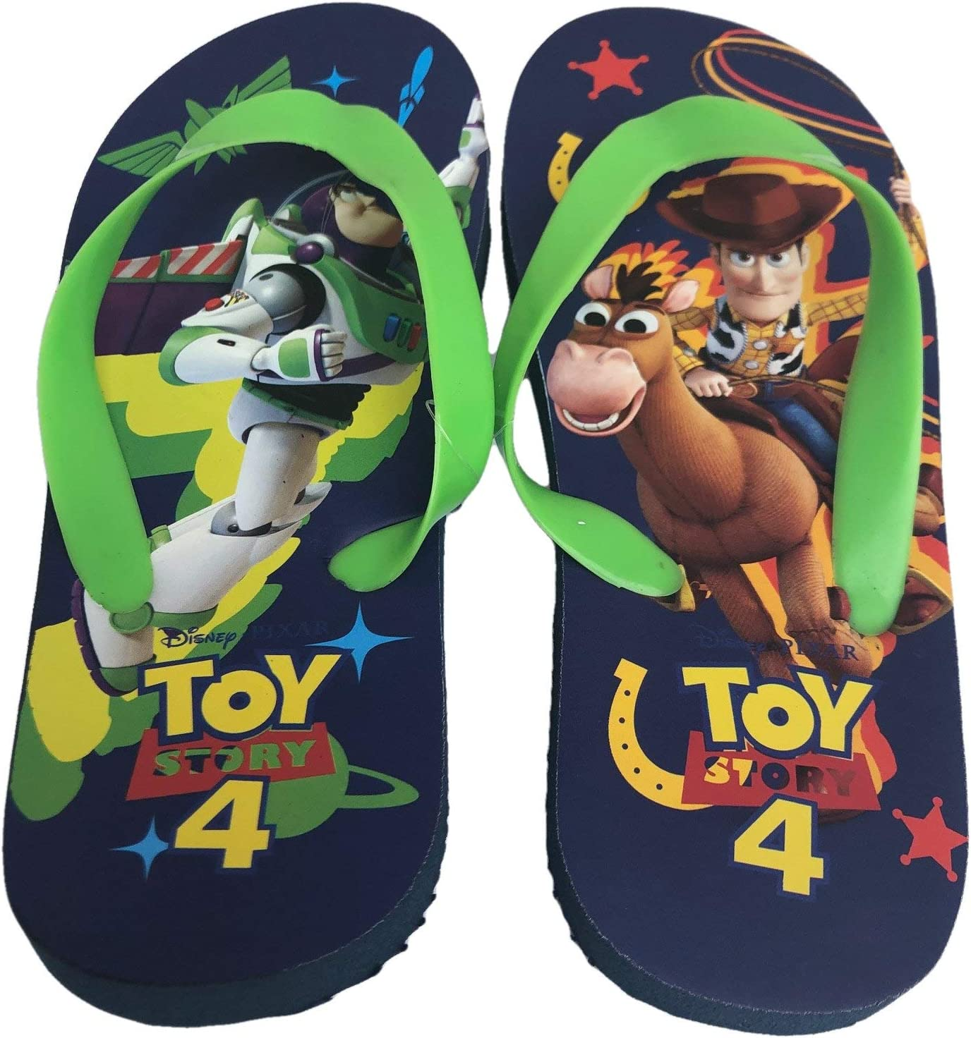 Disney Store Buzz /& Aliens Toy Story Boys Flip Flops Sandals 7//8 9//10 11//12 13//1