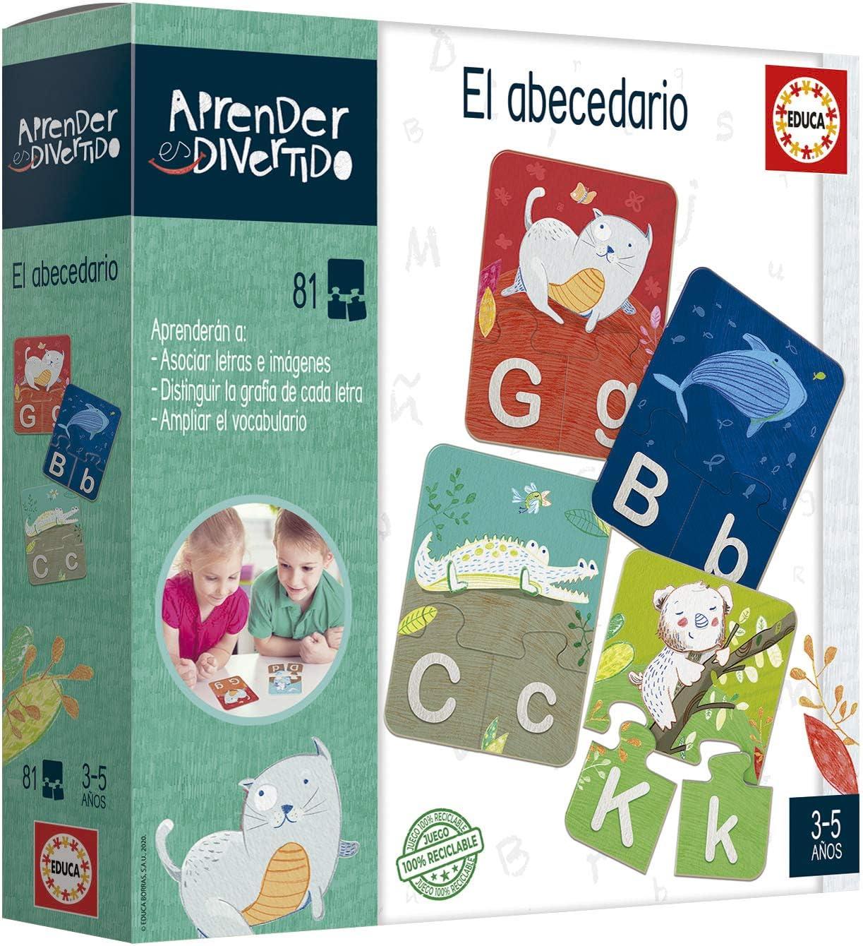 Educa- Aprender es Divertido El Abecedario, Juego educativo para niños, a partir de 3 años (18696) , color/modelo surtido: Amazon.es: Juguetes y juegos