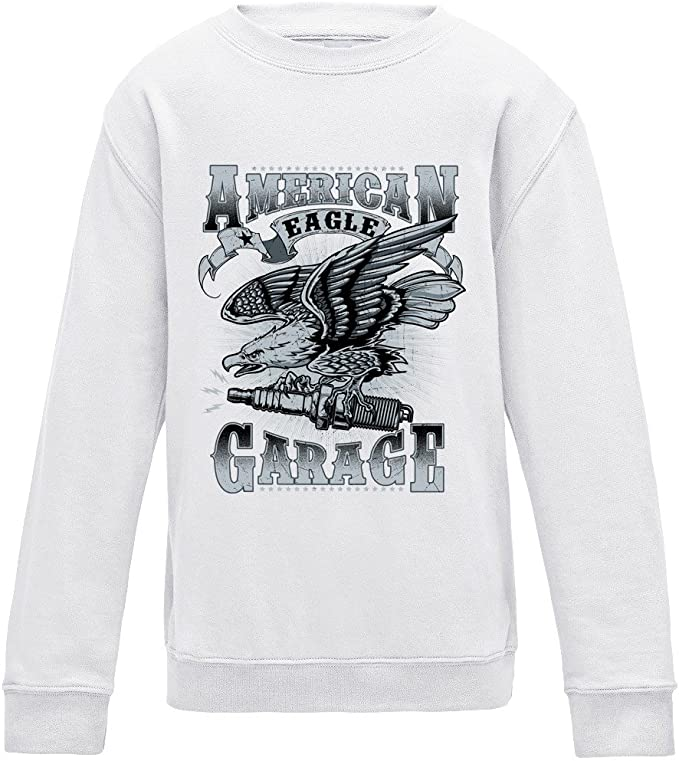 American Eagle Garage Sweater - White - Medium: Amazon.es: Ropa y ...