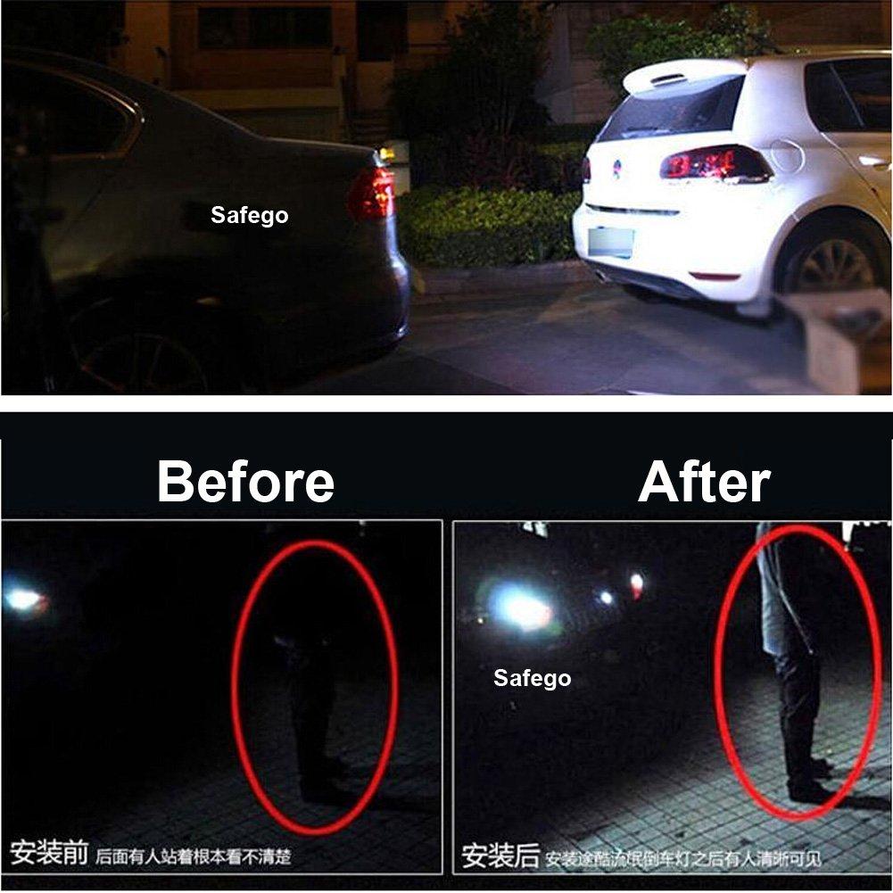 blanc xenon queue Lampe Back Up Lampes arri/ère Tour Signal lumineux Safego 2x 7440 LED Blanc W21W T20 800 lumens Super Bright 2835 PX Chipsets 7441 992 Ampoules LED