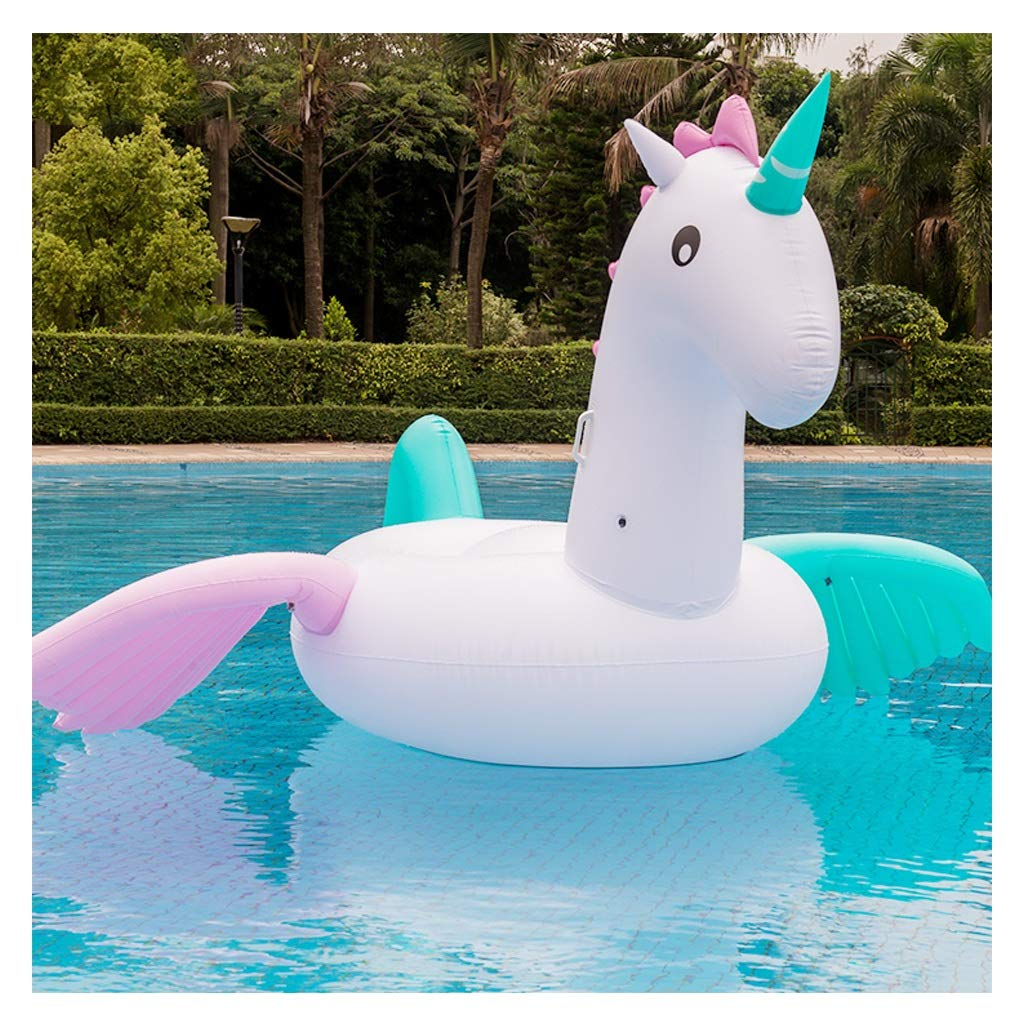 Colorful Horse Inflatable Floating Row - Water Adult Children's Toys by WXGM (Image #1)
