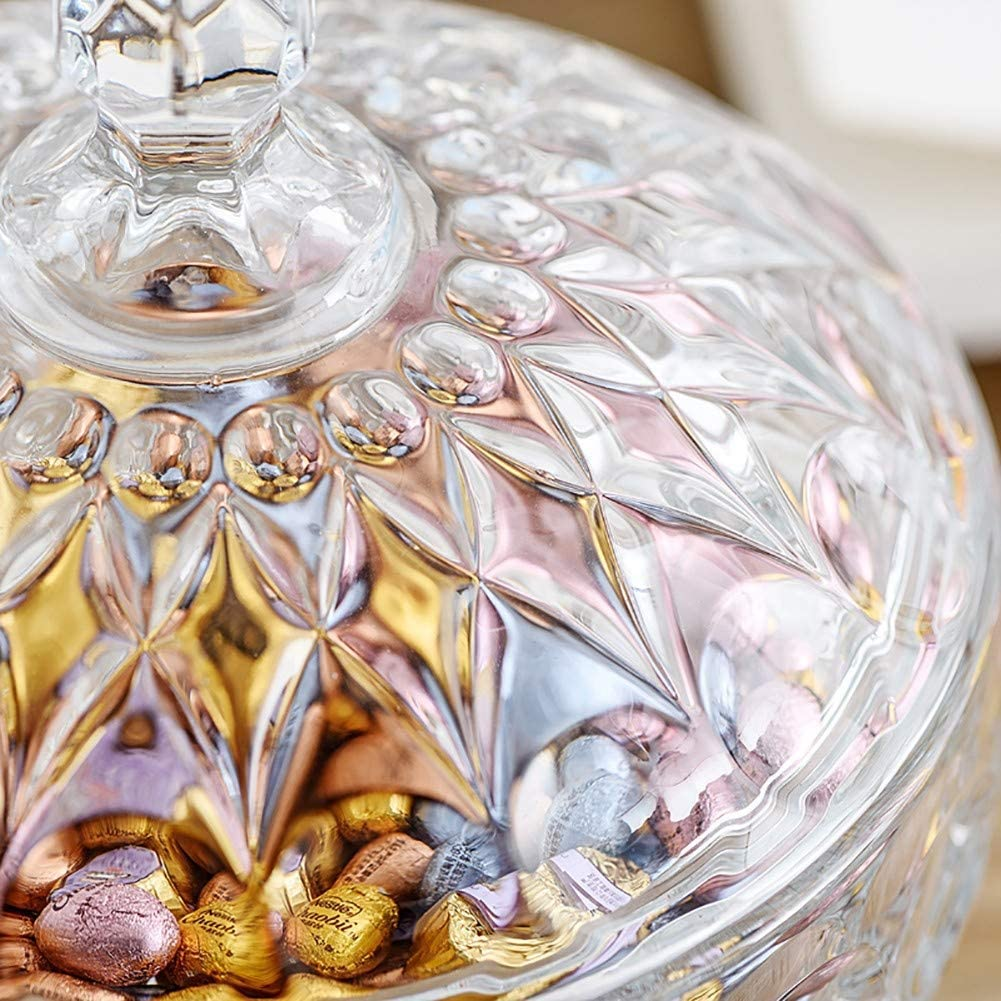 16.2x24.6CM Choice Glass Vase Covered Storage Box of Candy Dish