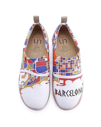 UIN - Mocasines de Lona para Hombre Blanco Blanco, Color Blanco, Talla 42 EU: Amazon.es: Zapatos y complementos