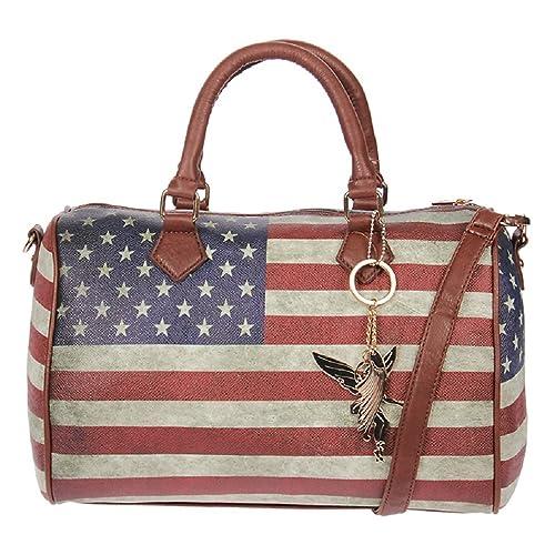 M. Kossberg - Borsa a mano con stampa bandiera Americana