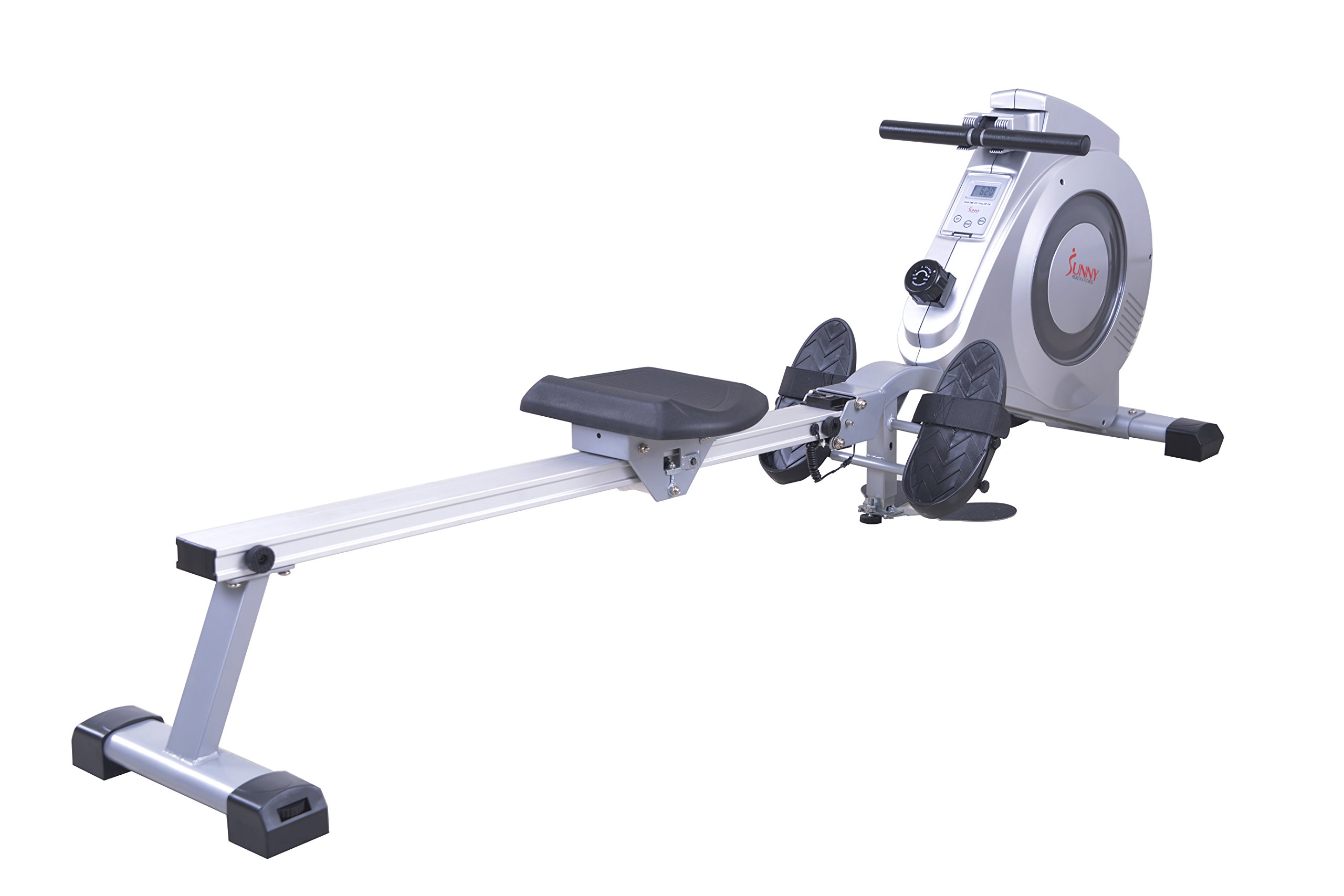 Sunny Health & Fitness SF-RW5612 Dual Function Rowing Machine Rower w/ LCD Monitor by Sunny Health & Fitness