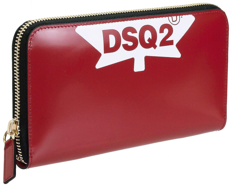 (ディースクエアード) DSQUARED2 メンズ 財布 レッド DD Dsquared2 Zip Wallet WAW0002-24900001 4065 [並行輸入品] B07D798L6N