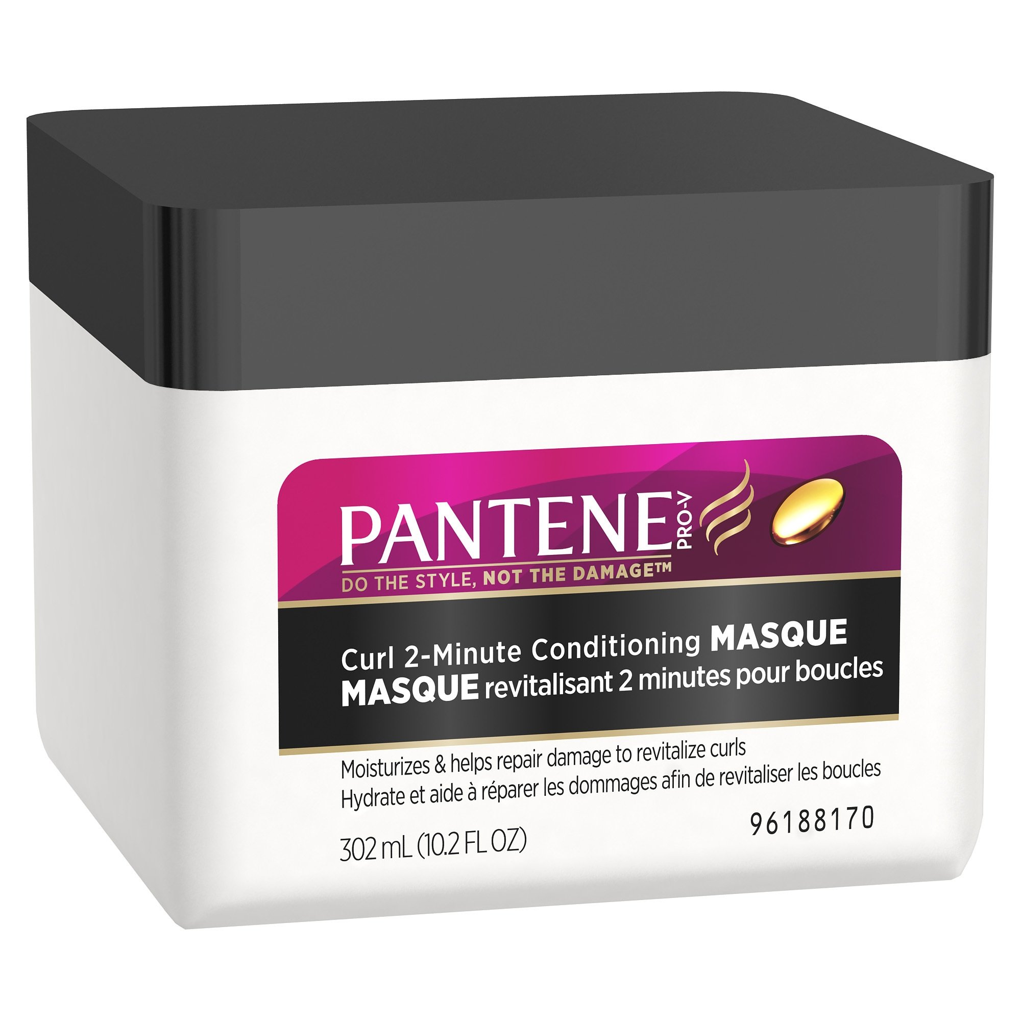 Pantene Pro-V Curly Hair Series 2-Minute Deep Conditioner 10.2 Fl Oz (Pack of 3)
