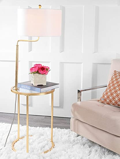 Safavieh Fll4021a Lighting Collection Crispin Side Table Gold Leaf
