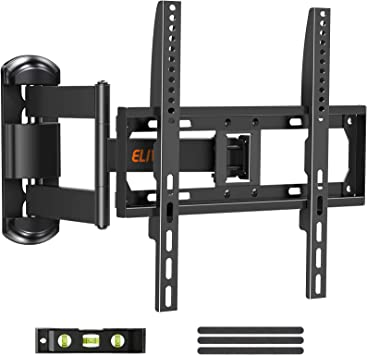 Full Motion Tv Mount Tv Wall Mount Swivel And Tilt For Most 26 55 Inch Flat Curved Tvs Wall Mount Tv Bracket With Articulating 6 Arm For Max Vesa 400x400mm 88 Lbs
