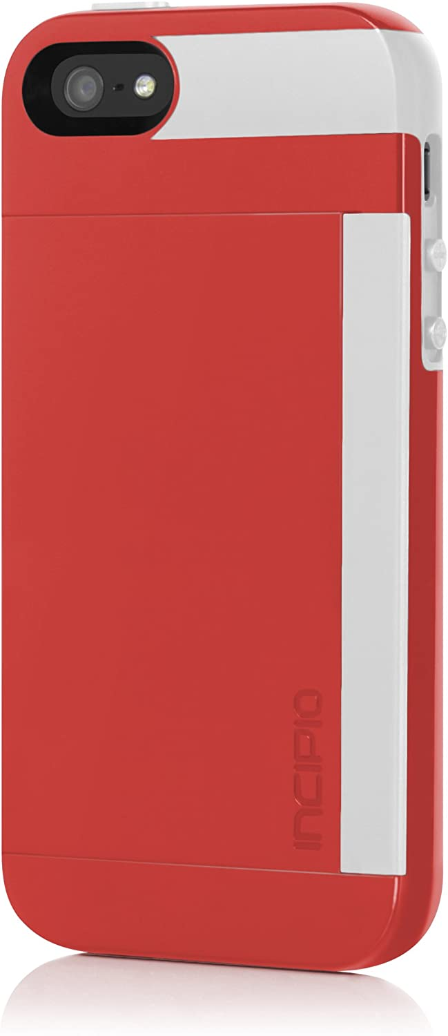 Incipio Stowaway Case for iPhone 5S - Retail Packaging - Red/White