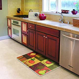 product image for Cushion Comfort Fruit Collage Kitchen Mat, 18-Inch by 30-Inch
