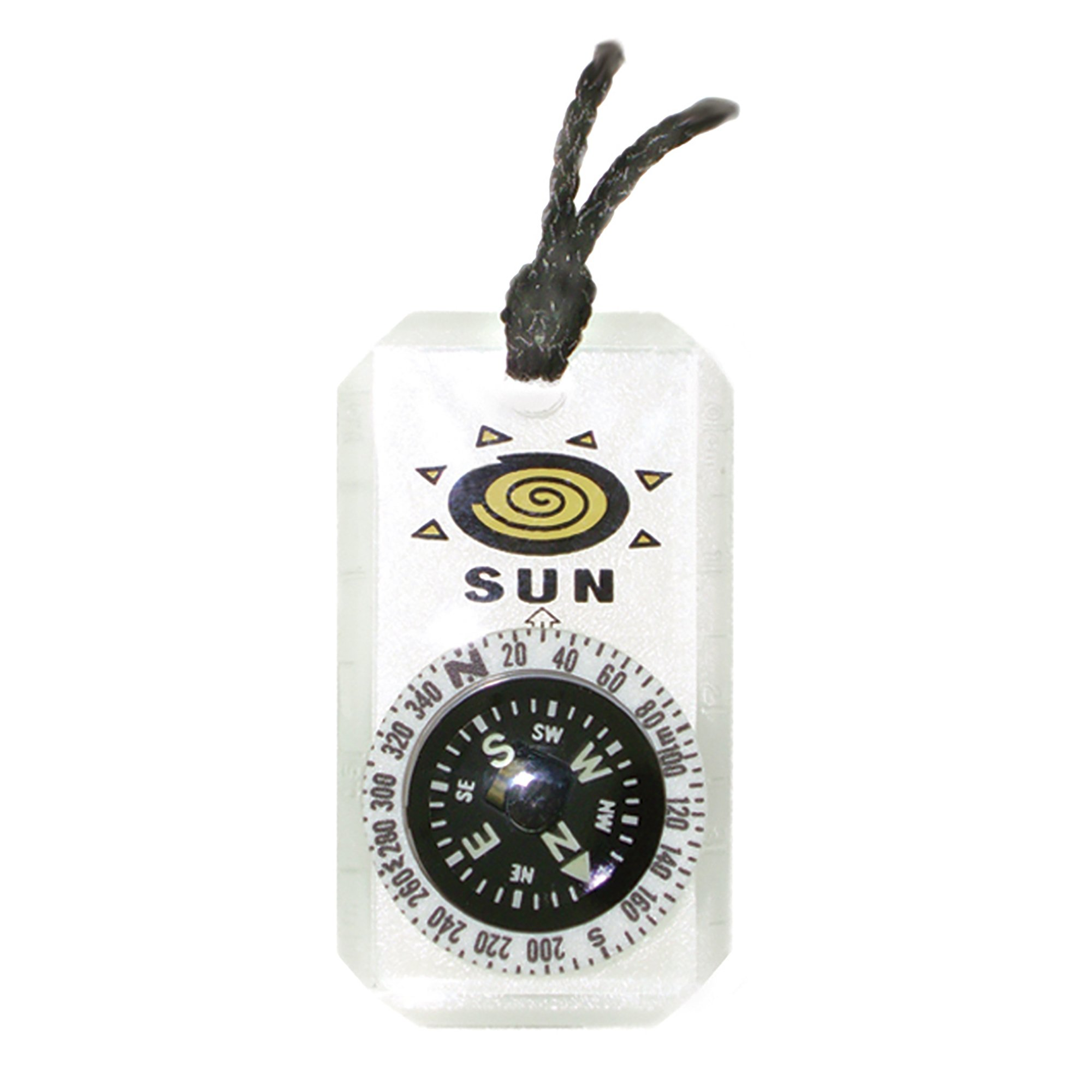 MiniComp II - Mini Orienteering Compass with Rotating Bezel  Easy-to-Read Zipperpull Compass for Jacket, Parka, or Pack