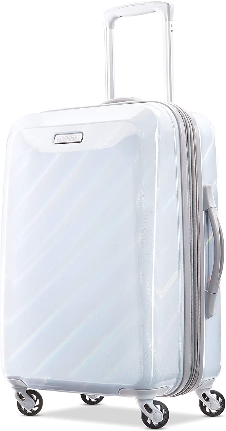 American Tourister Moonlight Hardside Expandable Luggage with Spinner Wheels Marble