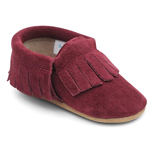b6722d2b1639 Dotty Fish Moccasins. Soft Sole Suede Baby Shoes. Non-Slip. Infant Toddler