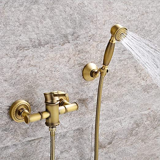 AXWT Cobre Antiguo Bañera Ducha Simple Faucet Caliente y fría Tome ...