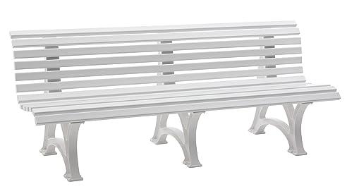 Gartenbank design kunststoff  Sitzbank / Gartenbank 4-Sitzer: Borkum, Länge 200cm, weiß ...