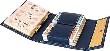 Modiano - Estuche para 2 Barajas de Cartas para Burraco (Piel sintética): Amazon.es: Juguetes y juegos