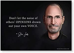 Steve Jobs Posters - Apple Poster Motivational Poster (Steve Jobs Quote -Tech Posters) Think Different Poster (Computer Poster) 13x18 NON LAMINATED 1 Poster Included
