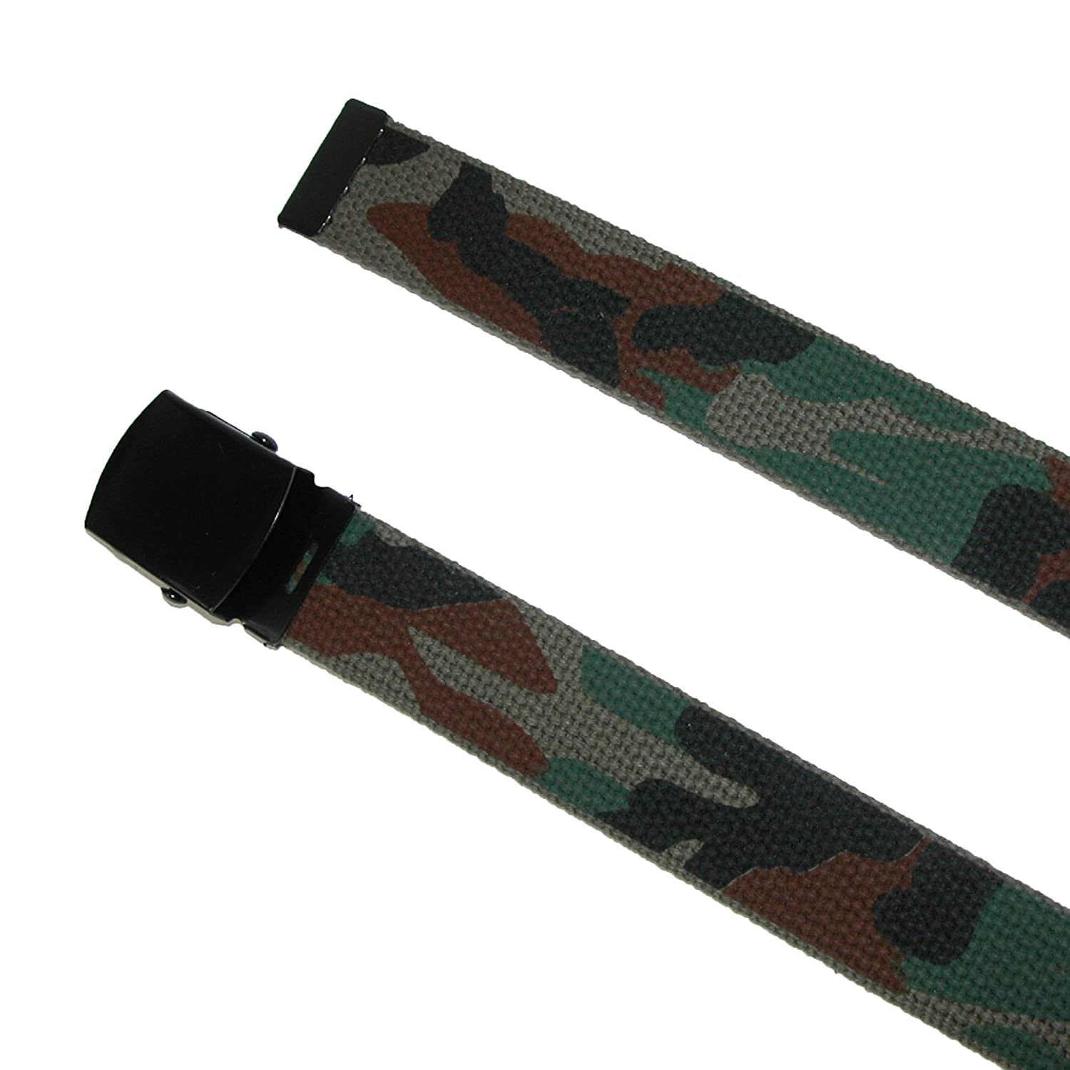 CTM Mens Big /& Tall Fabric Adjustable Belt with Woodland Camo Print Woodland Camo