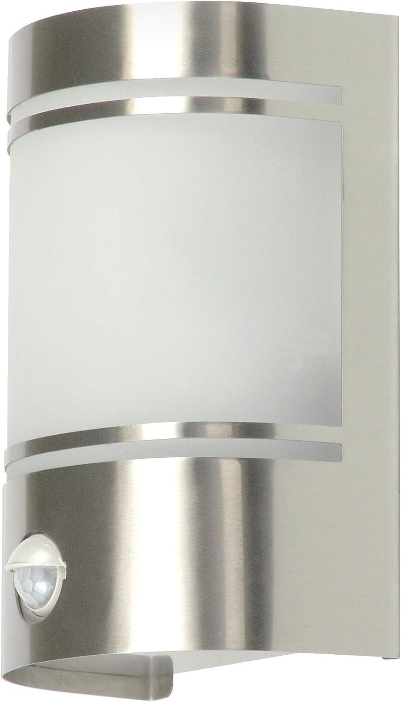 Ranex 5000.299 Luz de Pared de Exterior Diseño Moderno con Sensor de Movimiento, Cromado