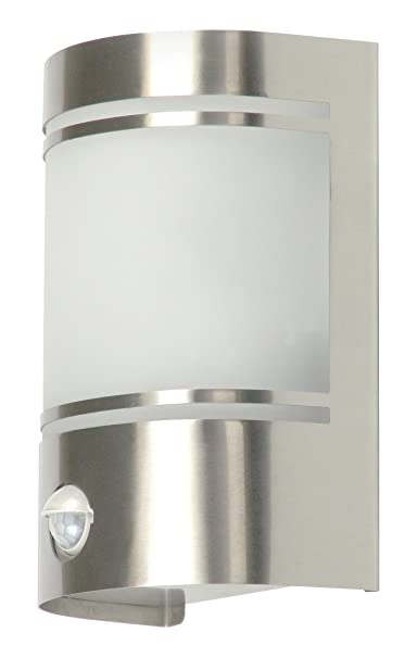 Ranex 5000.299 Luz de Pared de Exterior Diseño Moderno con Sensor de Movimiento, Cromado: Amazon.es: Hogar