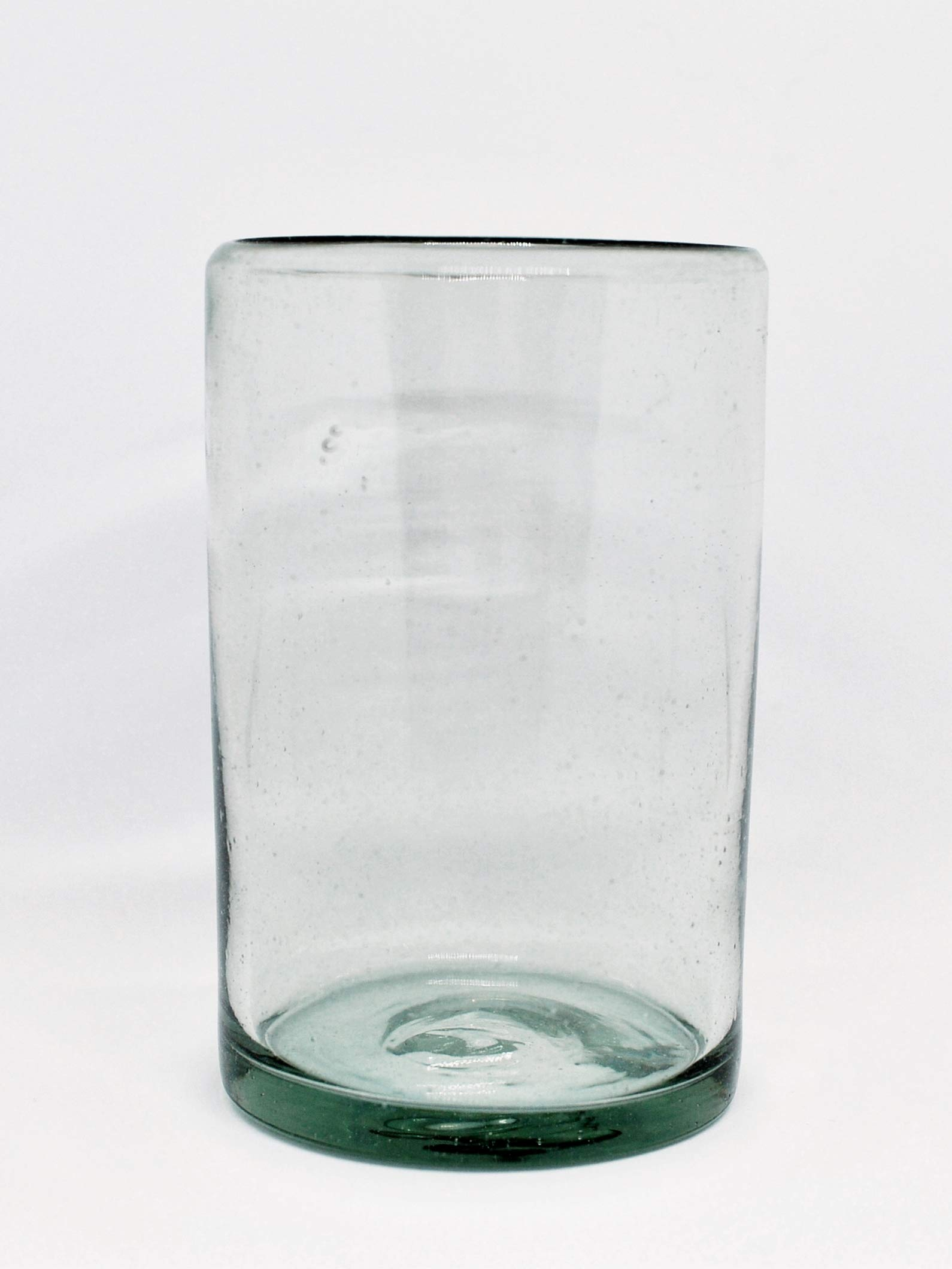 MEXHANDCRAFT Mexican Blown Glass Drinking Glasses Clear (Set of 6) by MEXHANDCRAFT (Image #1)