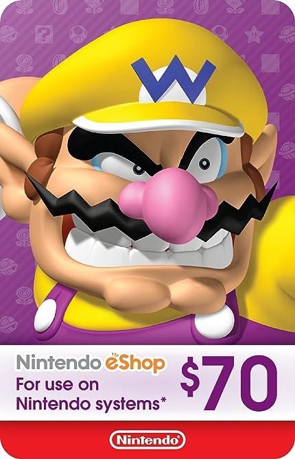 Amazon.com: $70 Nintendo eShop Gift Card [Digital Code ...
