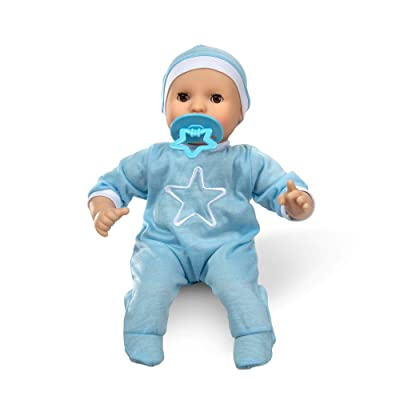 "Melissa & Doug Mine to Love Jordan 12"" Light Skin-Tone Boy Baby Doll with Romper, Cap, Pacifier: Toys & Games"