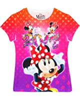 Disney Minnie Mouse 2017 Youth Girls Sublimated T Shirt Multicolor Tee
