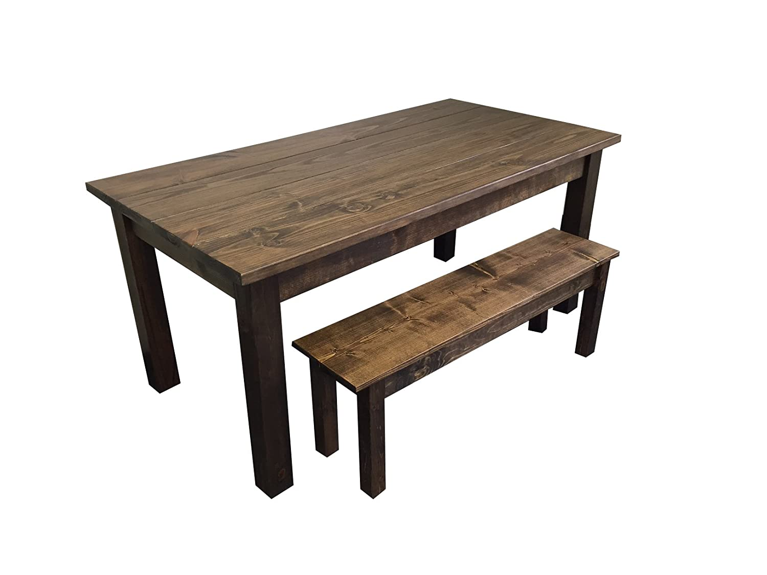 Amazon com yukon farmhouse table 60 tables
