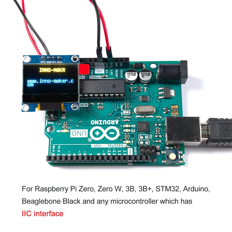 0 96 Inch I2C IIC Serial 128x64 OLED Module LCD Display 4 Pin Font Color  White for Raspberry Pi Zero, Zero W, 3B, 3B+, STM32, Arduino, Beaglebone