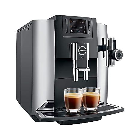 JURA E8 Independiente Máquina espresso Negro, Cromo 1,9 L 16 tazas Totalmente automática