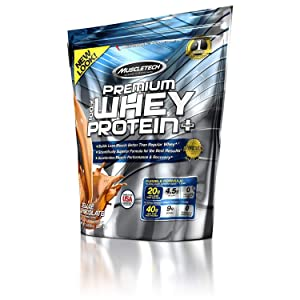 MuscleTech Premium Whey Protein Plus (Deluxe Chocolate, 5 lbs)