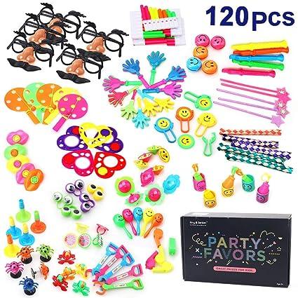 136ec52589 Amazon.com  Amy Benton 120PCS Carnival Prizes for Kids Birthday ...