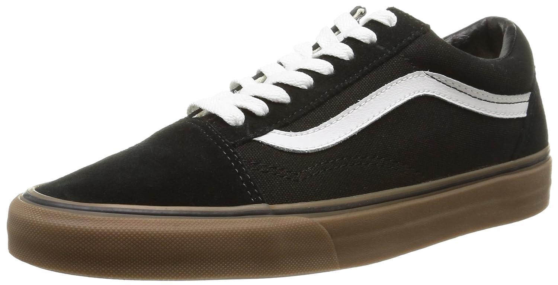 Vans Unisex Old Skool Classic Skate Shoes B00RPNMFIA 5 M US Women / 3.5 M US Men|Black/Medium Gum