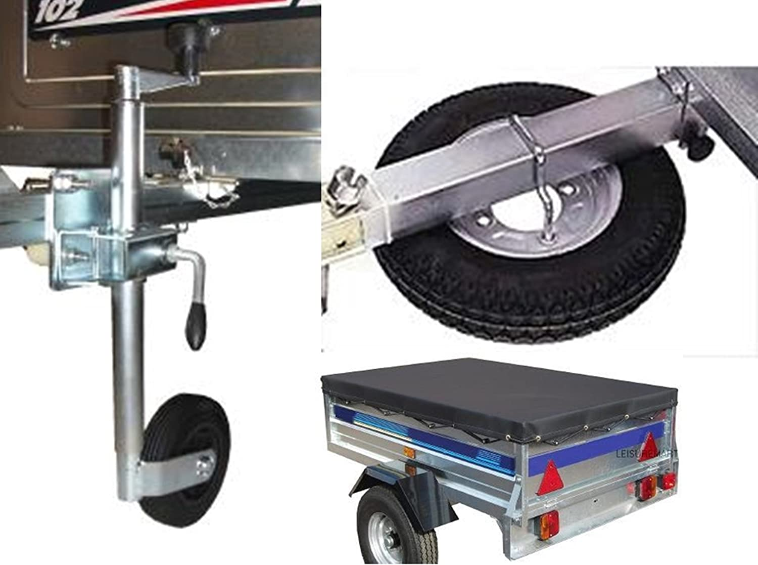 includes Spare wheel jockey wheel and fixing kit LMX1439 Trailer cover and spare wheel carrier Pt no leisure MART Accessory kit for Trailer Erde 102