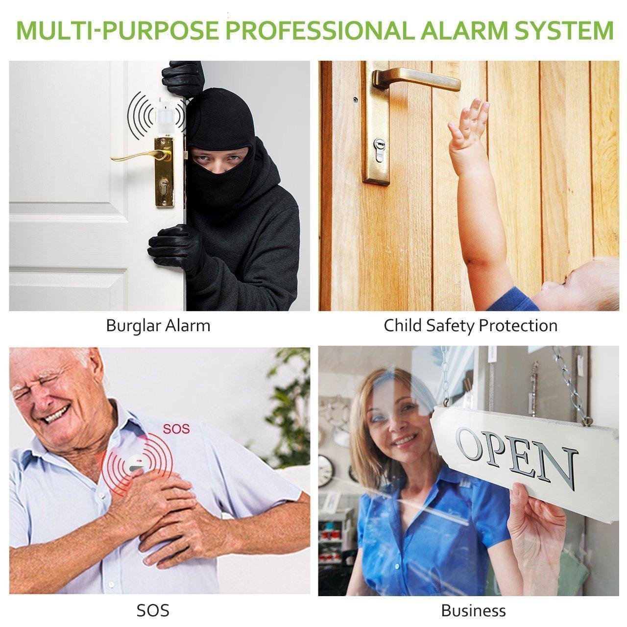 Thustar Sensor de Puerta//Ventana inal/¨/¢mbrico de 433MHz magn/¨/¦Tico para Sistemas de Alarma de Seguridad para el hogar gsm