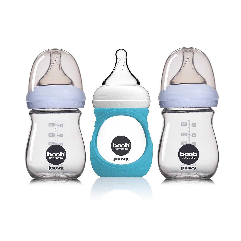JOOVY Boob Glass Bottle 3-pack, Clear, 5 Ounce 2112