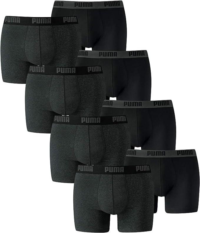 8 er Pack Puma Boxer Boxershorts Men Pant Underwear Dark Grey/Black size L