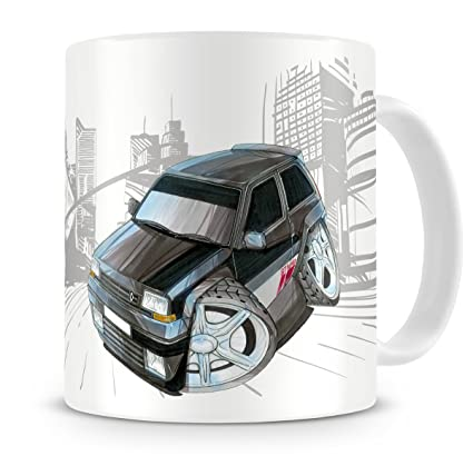 KOOLART kruzroyal caricatura de potencia máxima Renault 5 GT Turbo – Taza de café