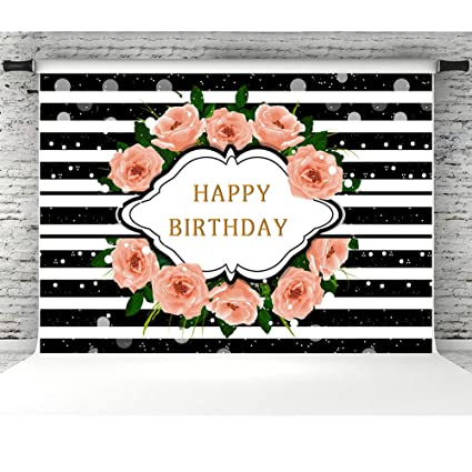 Image Unavailable Not Available For Color Black And White Striped Backdrop Birthday Decorations
