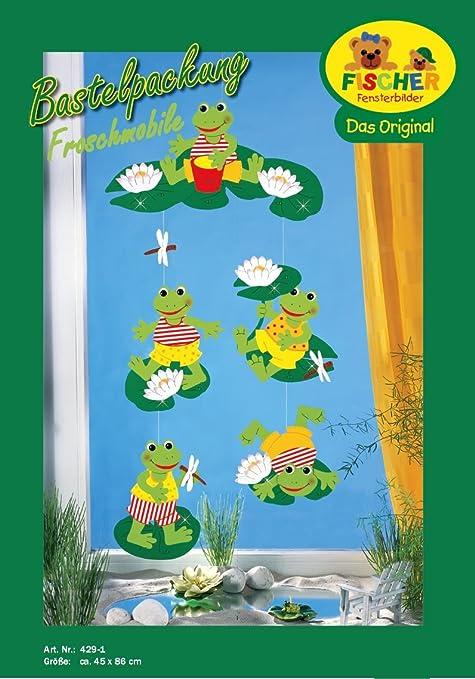 Weihnachtsbasteln Fensterbilder.Fischer Fensterbilder Frosch Mobile Bastelpackung Ca 45x86 Cm Zum