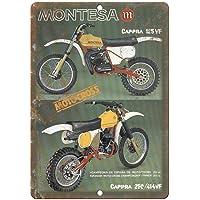 Montesa Cappra Motocross Póster De Pared Metal Retro